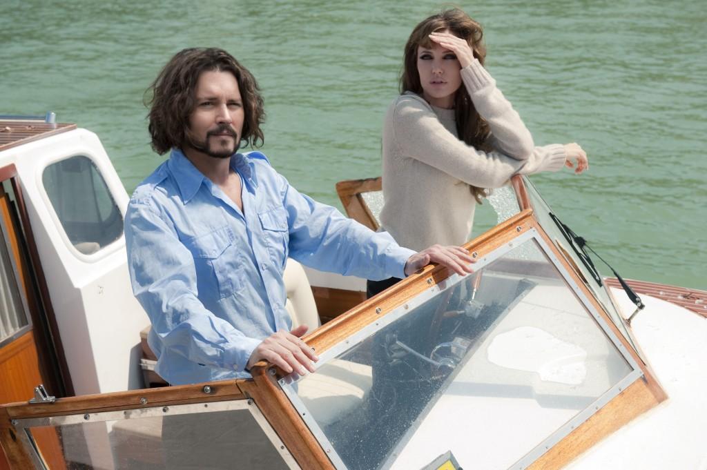 Johnny Depp und Angelina Jolie in The Tourist