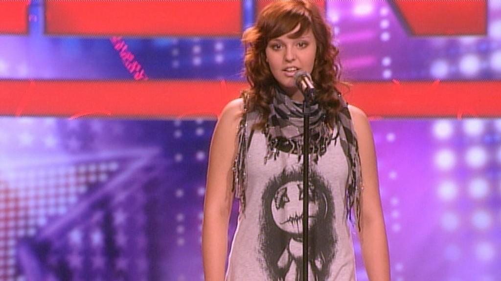 Ramona Fottner beim Casting zu Das Supertalent 2010