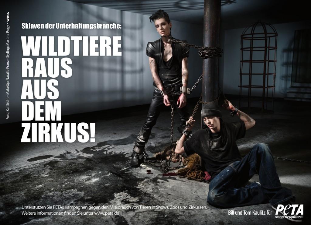 Hermanos Kaulitz para PETA