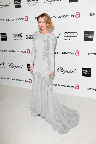 Miley Cyrus - 20th Annual Elton John AIDS Foundation Academy Awards Viewing Party