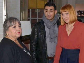 Sibil (Sema Poyraz, l.), Mesut (Mustafa Alin) und Nele (Ramona Dempsey)