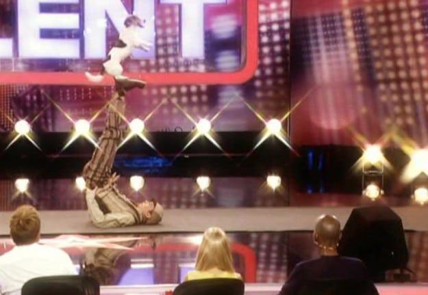 Yvo Antoni mit seinem Hund beim Supertalent