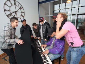Piano im DSDS Luxus-Loft