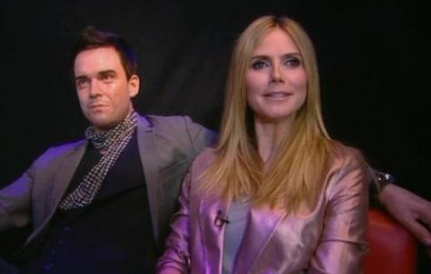 Heidi Klum und Robbie Williams bei GNTM 2010