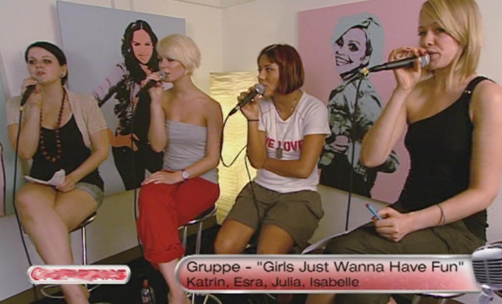 Proben für die dritte Entscheidungsshow bei Popstars 2010