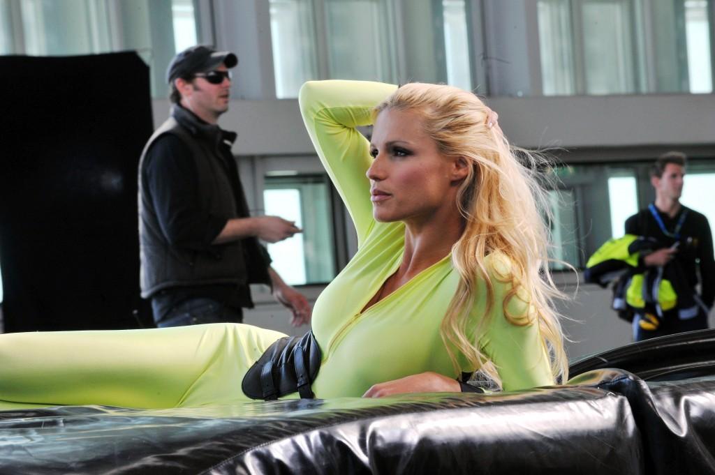 Michelle Hunziker nach Stunt