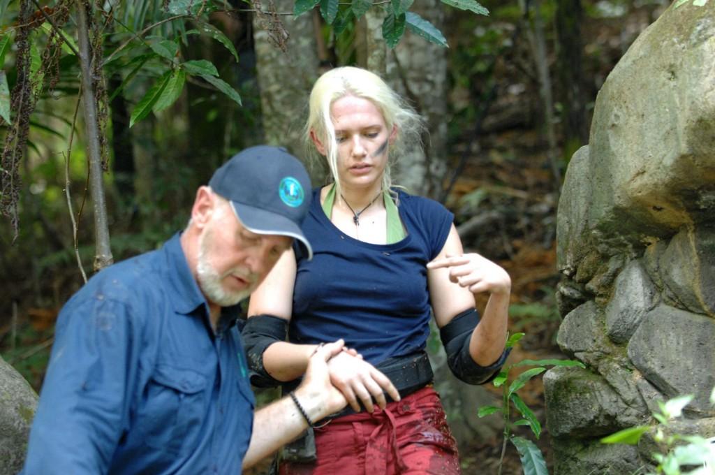 Sarah Knappik und Dr. Bob im Dschungelcamp 2011