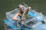 Srah Knappik im Boot des Grauens