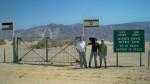 Am Grenzzaun zu Jordanien (Shalom Tor).