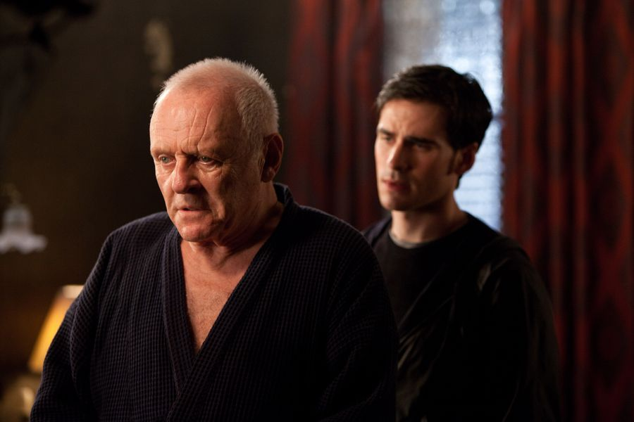 Anthony Hopkins und Colin O'Donoghue in The Rite