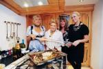 Von links: Gastgeberin Carmen Geiss, Rosi Schipflinger, Ireen Sheer und Jenny Elvers Elbertzhagen.
