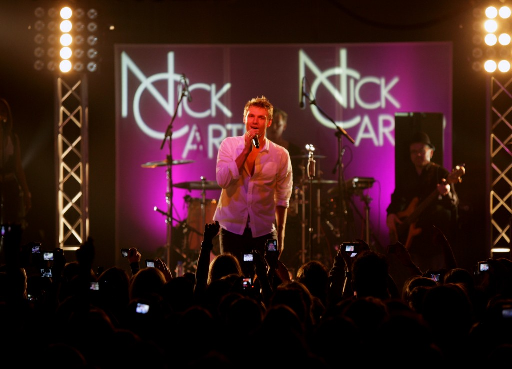 Nick Carter on Stage 2011