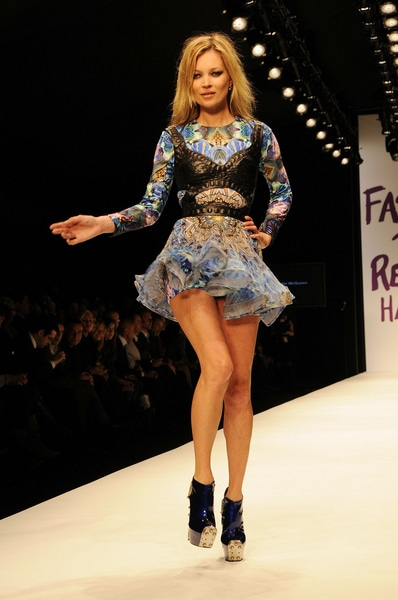 Kate Moss - London Fashion Week A/W 2010 - Naomi Campbell's Fashion For Relief