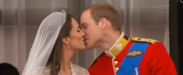 Prinz William und Kate geben sich Hochzeitskuss, BBC, über dts Nachrichtenagentur