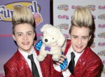 "Jedward and Hasbro's FurReal Friends Launch the New ""Cookie"" Dog Toy at Hamleys in London on July 25, 2011"
