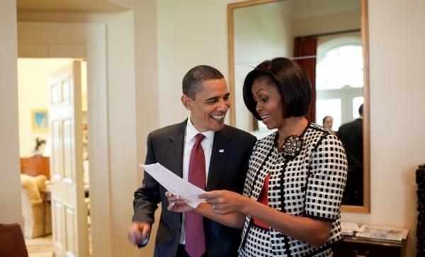 US-Präsident Barack Obama mit seiner Frau Michelle, dts Nachrichtenagentur