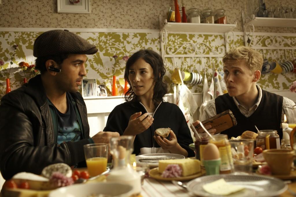 Okke (Elyas M'Barek), Nele (Sibel Kekilli), Alex (Matthias Schweighöfer)