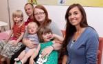 Familie B. aus Eisenach: Mutter Mandy (25) und Vater David (27) haben drei Kinder: Lilly (3,5 Jahre), Raja (2,5 Jahre, li.) und den neun Monate alten Jannick (Mi.).