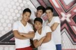 V.l.: Hien Nygen (24), Nhan Hoang (19), Ha (20) und Michael Ha (21) aka Die Springrolls bei X Factor 2011