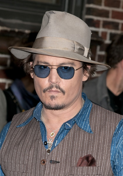 """Johnny Depp - """"Late Show with David Letterman"""" - October 26, 2011 - Ed Sullivan Theater"""