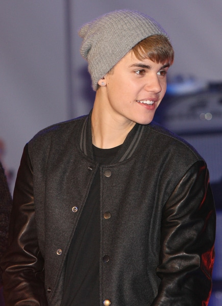 Justin Bieber with The Wanted in Concert at the Westfield Shopping Centre in London