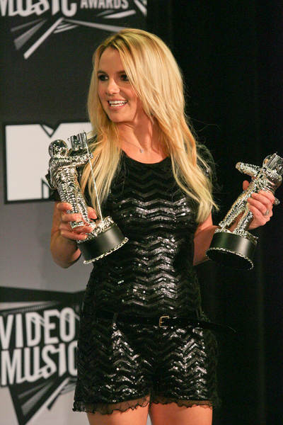 Britney Spears - 2011 MTV Video Music Awards - Press Room - Nokia Theatre L.A. Live