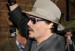 Johnny Depp Arrives to Address the Oxford University Students Union in London on November 5, 2011
