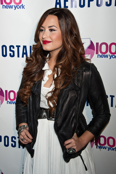 Demi Lovato Attends Z100's Jingle Ball 2011 Official Kick Off Party at Aeropostale Times Square