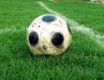 Fussball auf dem Feld
