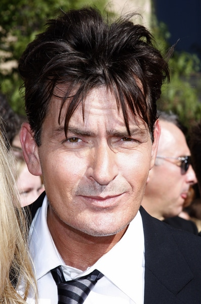 Charlie Sheen - 59th Primetime Emmy Awards