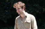 "Robert Pattinson Filming ""Remember Me"" in Central Park on June 30, 2009"