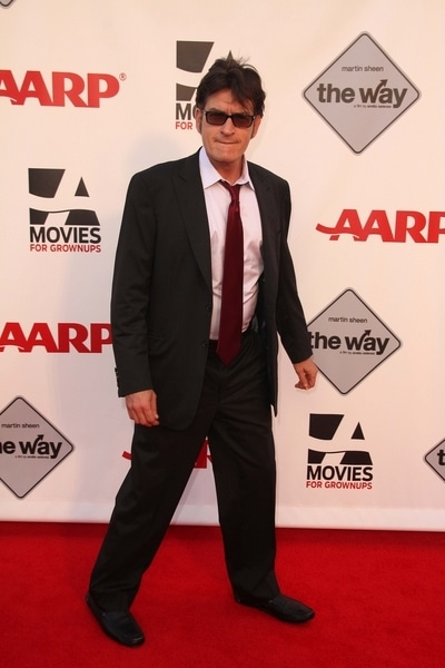 """Charlie Sheen - AARP's Movies for Grown Ups Film Festival Screening of """"The Way"""""""
