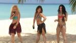 Ann Christin Zapp, Vanessa Krasniqi und Caprice Edwards am Strand