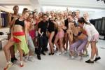 Fashion-Artist Adam Saaks und die Models.