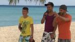 Daniele Negroni, Jesse Ritch und Hamed Anousheh beim Singen