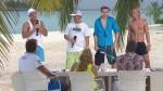 Dennis Richter, Robin Lau, Fabian Reichmann und Ole Jahn vor der Jury