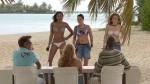 Ursula-James, Isabelle Kessel und Luisa Rowe vor der die Jury