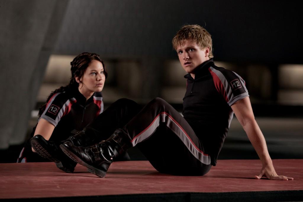 Katniss Everdeen (Jennifer Lawrence) and Peeta Mellark (Josh Hutcherson)