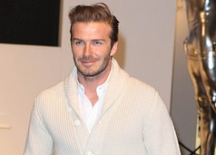 David Beckham Launches His Bodywear Collection Underwear Range at H&M in London on February 1, 2012