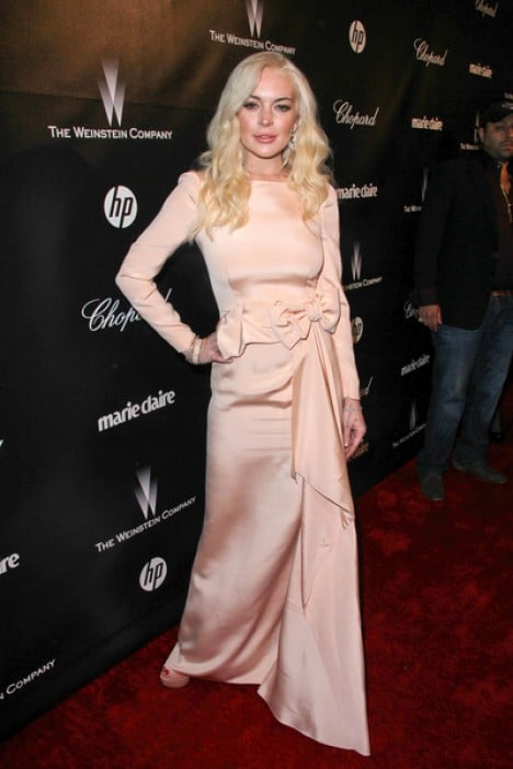 Lindsay Lohan - 69th Annual Golden Globe Awards The Weinstein Company Afterparty