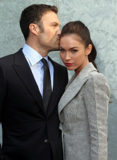 Brian Austin Green and wife Megan Fox - Milan Fashion Week Womenswear Spring/Summer 2011