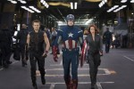 Hawkeye (Jeremy Renner), Captain America (Chris Evans) & Black Widow (Scarlett Johansson)