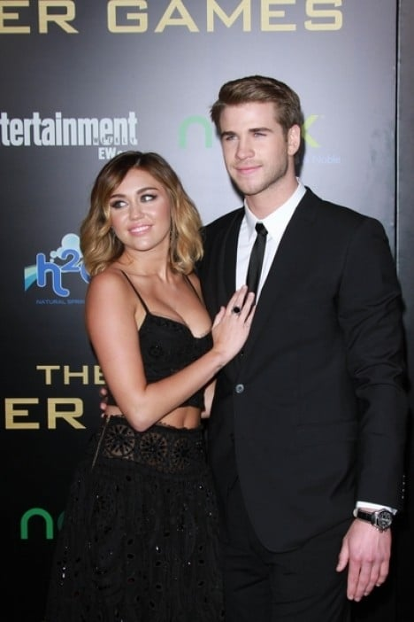 """Miley Cyrus and Liam Hemsworth - """"The Hunger Games"""" Los Angeles Premiere"""