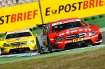 DTM, Hockenheim, 1. Lauf, 27. - 29. April 2012. Robert Wickens, stern Mercedes AMG C-Coupé. David Coulthard, DHL Paket Mercedes AMG C-Coupé