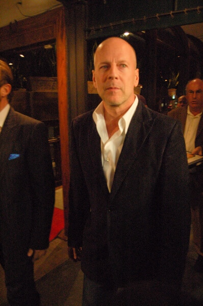 Bruce Willis Departing Madeo in West Hollywood on November 4, 2009