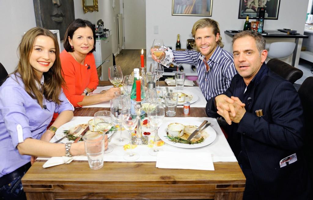 V.l.: Wanda Badwal, Claudia Obert, Paul Janke, Florian Fitz