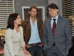 Gerner (Wolfgang Bahro, re.), Dominik (Raul Richter) und Katrin (Ulrike Frank)