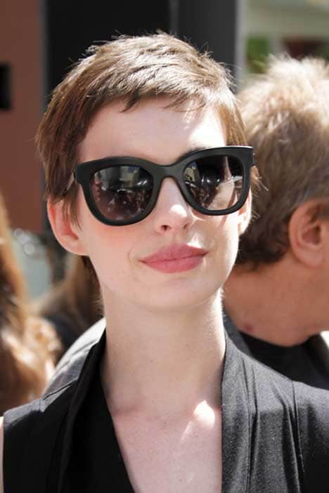 Anne Hathaway - Christopher Nolan Hand and Footprint Ceremony at Grauman's Chinese Theatre