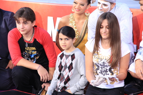 """Prince, Paris and Blanket Jackson - """"Michael Jackson Immortalized"""" Hand and Footprint Ceremony in Hollywood"""