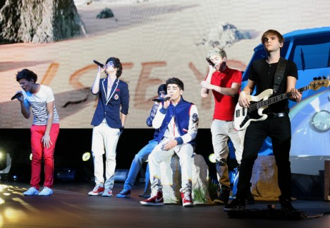 One Direction in Concert at the HMV Apollo in London